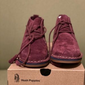 Hush Puppies Suede booties Size 5.5